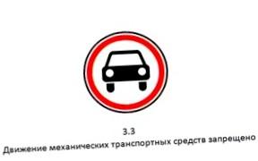 Дорожный знак «Движение запрещено» и штраф за его нарушение