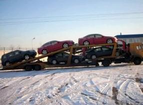 Доставка легковых машин автовозами
