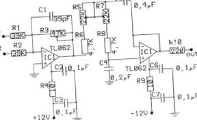 Фильтр низких частот для сабвуферного усилителя