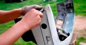 Как отремонтировать пластиковый бампер?