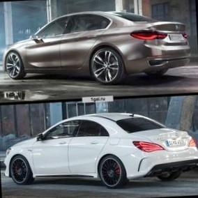 Сравнение Mercedes CLA против BMW 1-Series в кузове седан