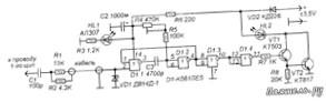 Термокомпенсированный индикатор напряжения-схема